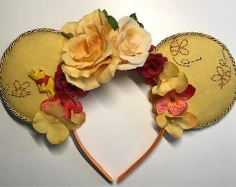 Winnie , the Pooh Bear, kid sized Mickey Ears headband