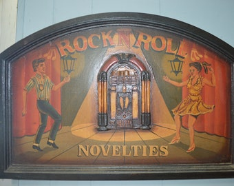 Rock and Roll Novelties Sign