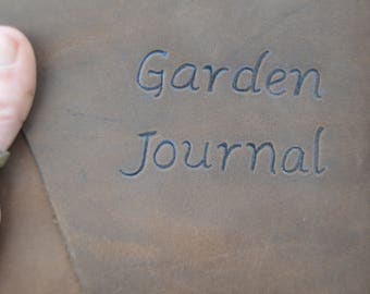 Handmade Leather Garden Journal with FREE Personalization