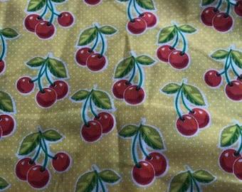 Cherry Bomb Yellow Dog Bandana