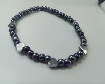 Metallic Heart Bracelet