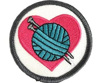 Knitting Love Craftbadge craft merit badge