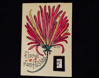Floral Fantasies - Hand Drawn Journal