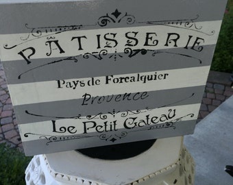 French grey sign