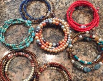 Memory wire bracelets