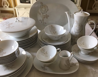 Rosenthal Germany Classic Rose Service for 8 Fine China with Serving Pieces & Rosenthal china   Etsy