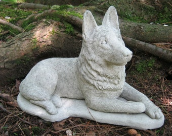 Outdoor statues etsy german shepherd dog concrete dog statue cement statue canine police dogs shepherd workwithnaturefo