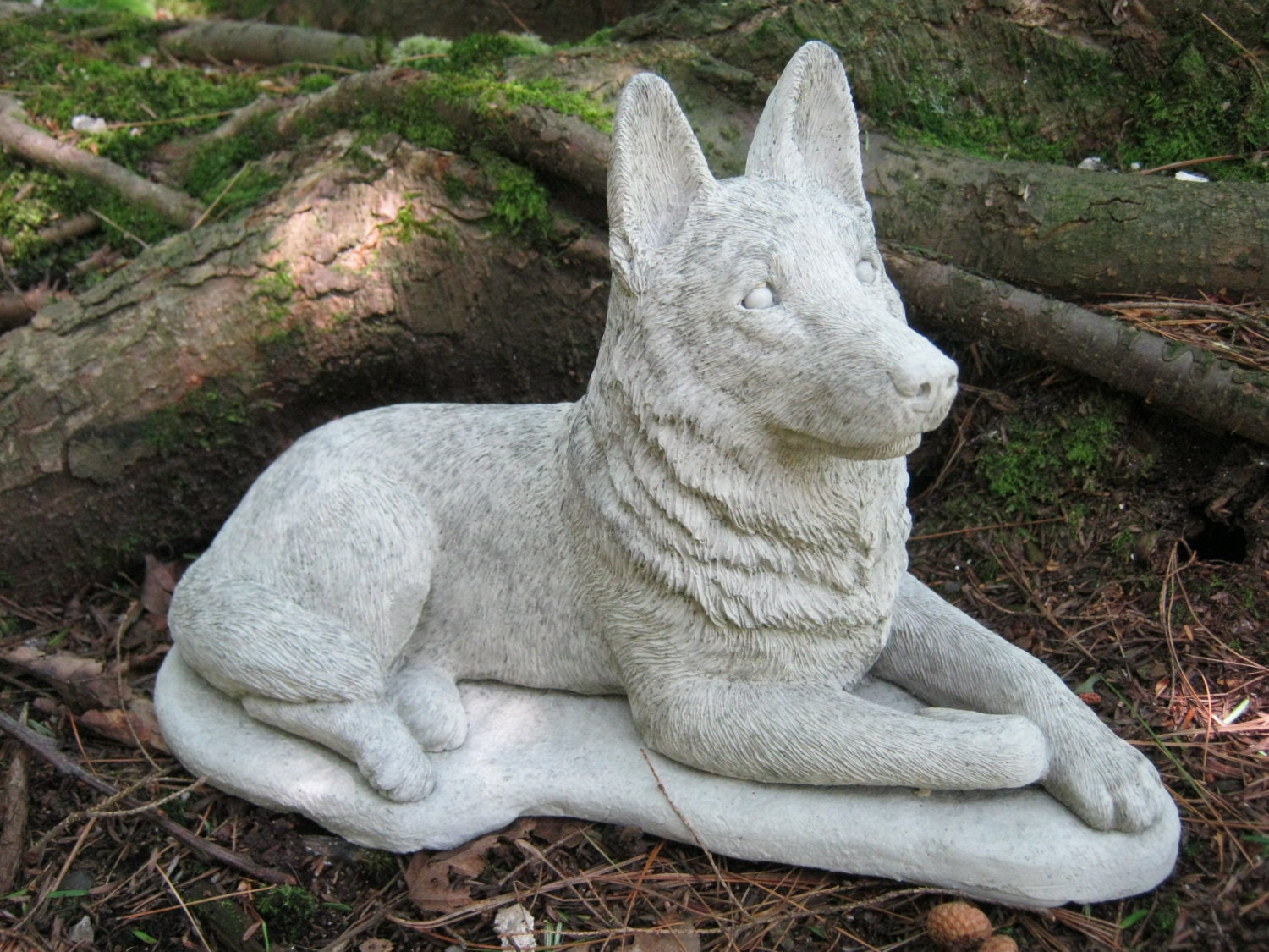 German Shepherd Dog Concrete Dog Statue Cement Statue