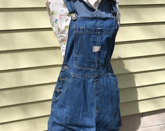 Old Navy Short Denim Overalls/Medium/Bibs/Shortalls/1990s/Grunge/Carpenter