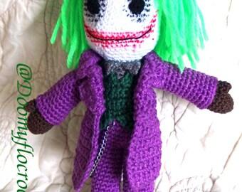 The Joker Batman amigurumi cotton handmade crocheted doll