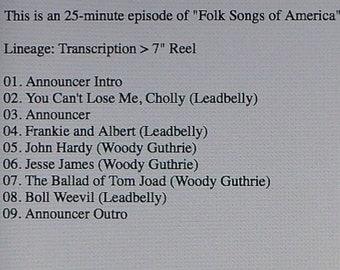 Woody Guthrie & Leadbelly---12-12-1940---WNYC Radio