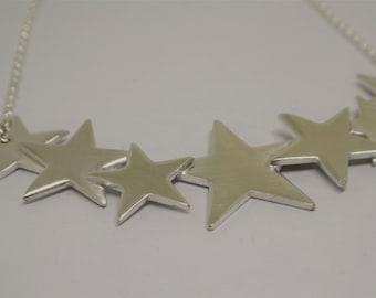 Silver Big Star Necklace