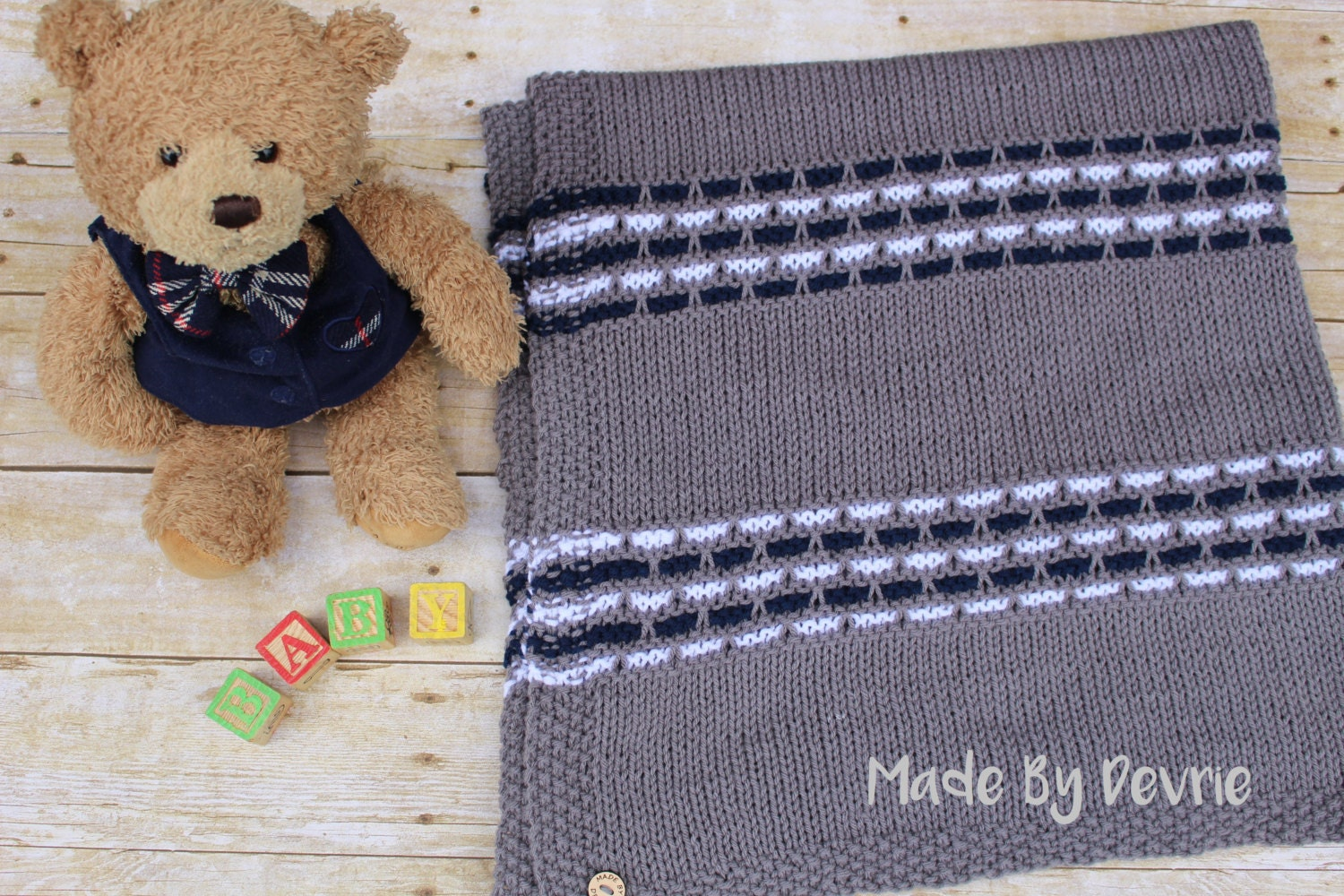 Digital download knitting pattern baby blanket knit baby zoom dt1010fo