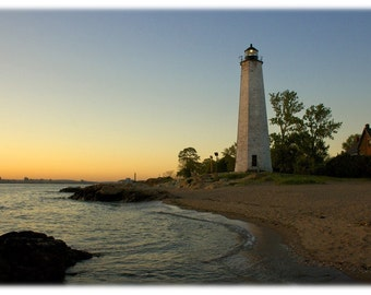 New Haven Lighthouse at Sunset