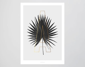 ABC Plants - A / Fine Art-Print, Wall-Art, Minimal Poster Art, Typography Art, Premium Poster, Kunstdruck Poster
