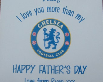 Personalised Father's Day Card-Football-Chelsea