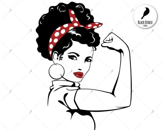 Rosie the Riveter svg afro Rosie svg strong woman svg Rosie