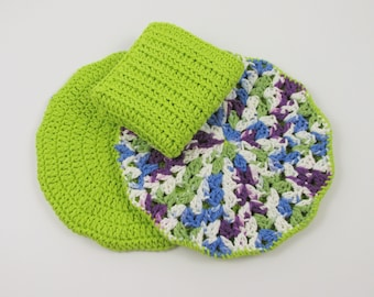 Hot Pads for Countertops, Crochet Kitchen Dishcloth, Potholders Double Thick, Dish Washcloth