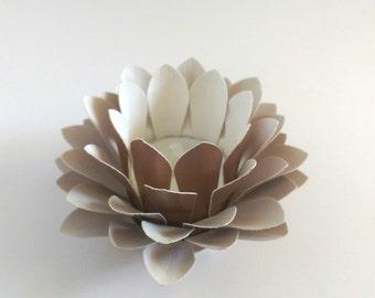 Paper Lotus Lantern -Metallic Copper-