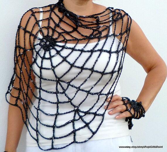 Pdf Crochet Pattern One Size Halloween Spiderweb With Handy