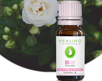 White Rose essential oil- Rosa alba- 100% Rose Otto- Undiluted Rose Essential oil-  Natural Skin care -Rose oil- Bath & beauty care- Otto