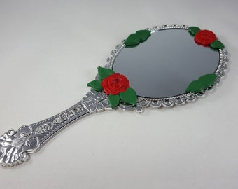 Beauty and the Beast Enchanted Mirror - Beauty and the Beast Cosplay - Enchanted Mirror - Princess Gift - Wedding Mirror - Silver