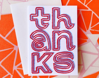 Thanks Typographical Greeting Card