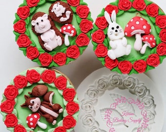 rose flower garland with leaf silicone mold fondant chocolate mold cupcake decoration