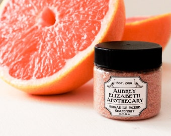 Grapefruit Lip Scrub - Citrus - natural skincare & vegan - gift for her - mothers day present -  2 in 1 scrub and balm edible lip scrub
