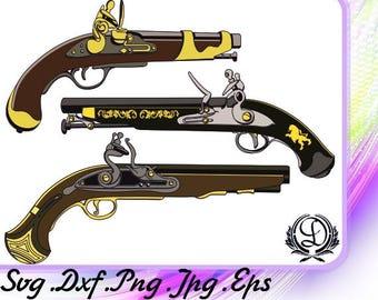 Pistols Guns SVG Digital prints