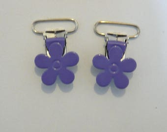 Pacifier clip Lavender flower