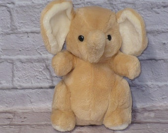"Vintage Daekor 1979 POT BELLY ELEPHANT Plush Stuffed Animal 12"" tall"