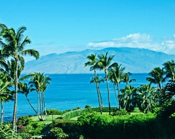 Maui View Digital Download-Looking out from the Island of Maui, Hawaii onto Kaho'olawe Island Preserve-Print it your way and save!