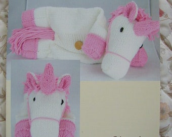 Suki The Unicorn Pyjama Case Knitting Pattern In Chunky