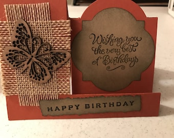 Handcrafted  Birthday Card.
