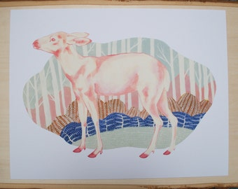 Pastel Deer Print // Animal Print