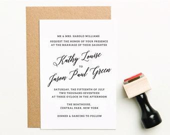 Wedding Invitation Stamp, Wedding Stamp, Wedding Invite Stamp, Custom Wedding Invitation Stamp