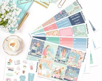 Relax - Deluxe Weekly Kit | Erin Condren Vertical Life Planner Stickers