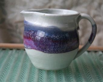 Vintage Studio Pottery Milk Jug Creamer Pottery Vase Pitcher