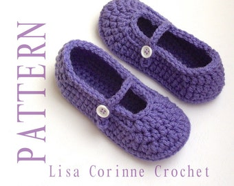 Crochet Slipper PATTERNS, Girls Slippers Crochet PATTERN, Kids Slippers, Crochet Slippers PATTERN, Slippers for Toddlers