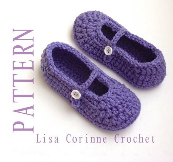 Crochet Slipper Patterns Girls Slippers Crochet Pattern Kids