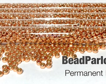 TOHO Permanent Finish Rose Gold Glass Seed Beads - BP-P481A - Size 6/0 - 28 grams