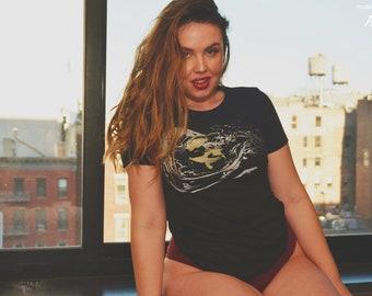 Space t-shirt, women's t-shirt, Space drama, psychedelic t-shirt, dramatic t-shirt, womens graphic tee, 1AEON womens tshirt S-XXL