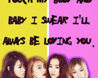 SISTAR Valentine kpop korea hallyu girls generation SNSD Wonder Girls Twice