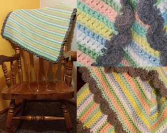 Handmade Baby Blanket/ Lap Throw (multi color)