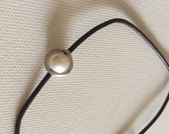 Leather Corded Wire Wrapped Freshwater Pearl Necklace
