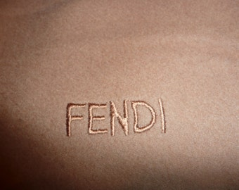 Vintage Fendi Cashmere Blend camel brown Scarf  Wrap Made In Italy