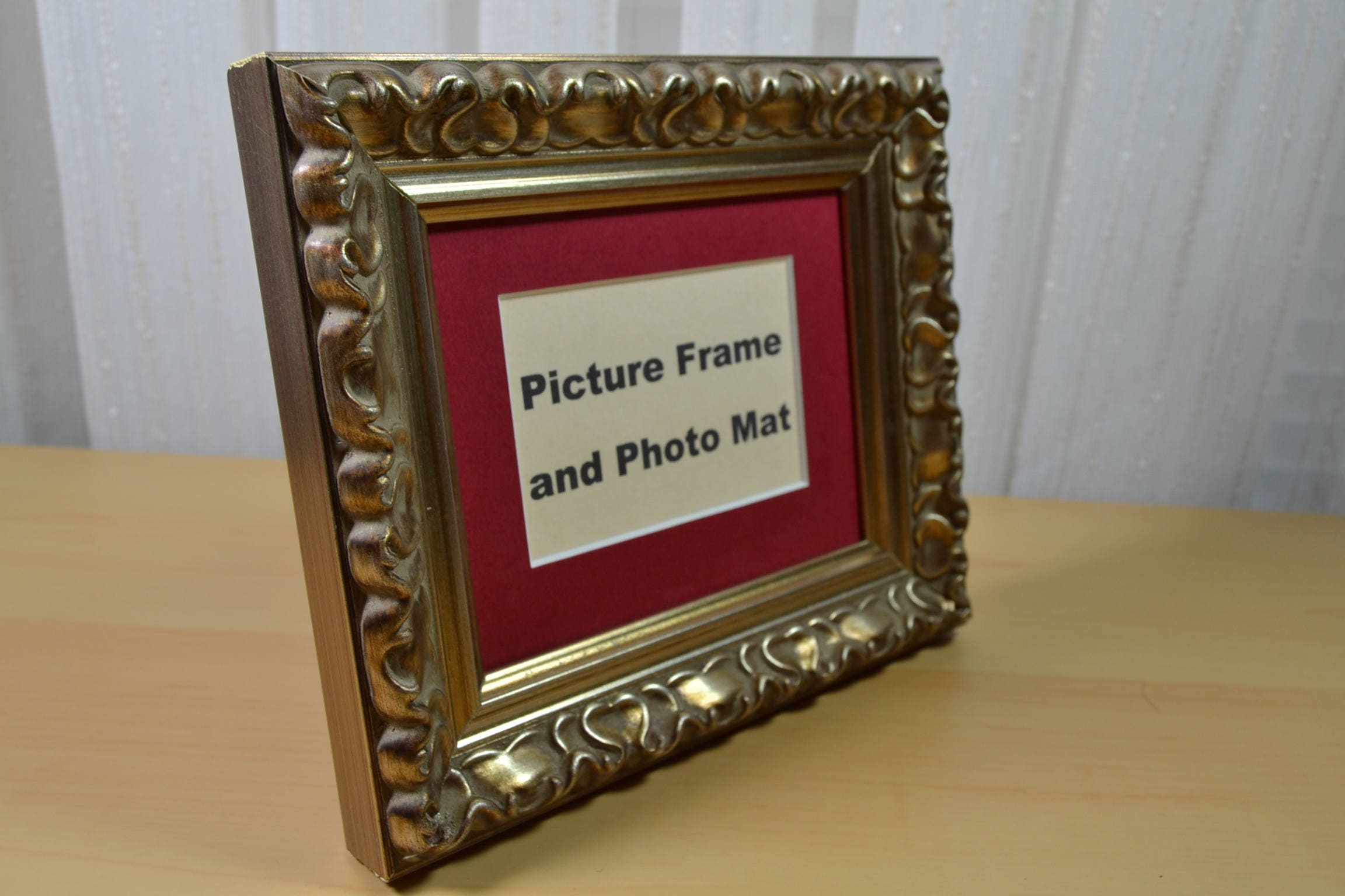 Photo Frame - 4x5 Ornate Silver - Wood Picture Frame with ACEO Mat ...