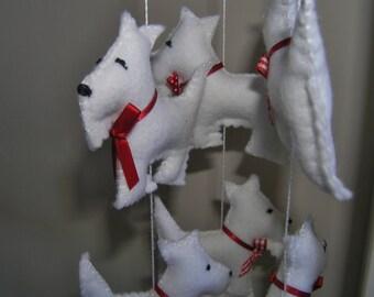 felt mobile - west highland terrier mobile - westies
