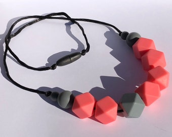Handmade Silicone Beaded Necklace